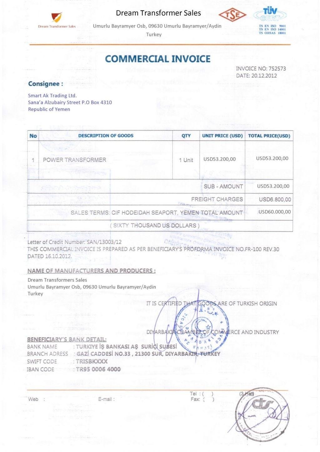 consular invoice format pdf invoicegenerator consular invoice format