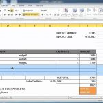 Create Invoice In Excel