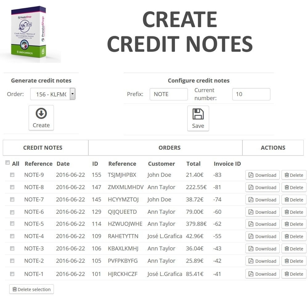 credit notes memos of the complete invoice in pdf prestashop invoice credit note