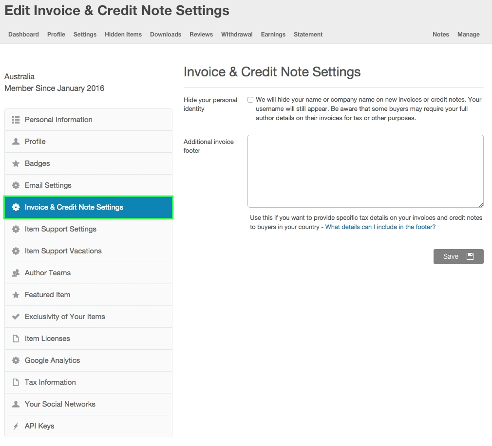 custom invoice amp credit note footer help center credit note invoice