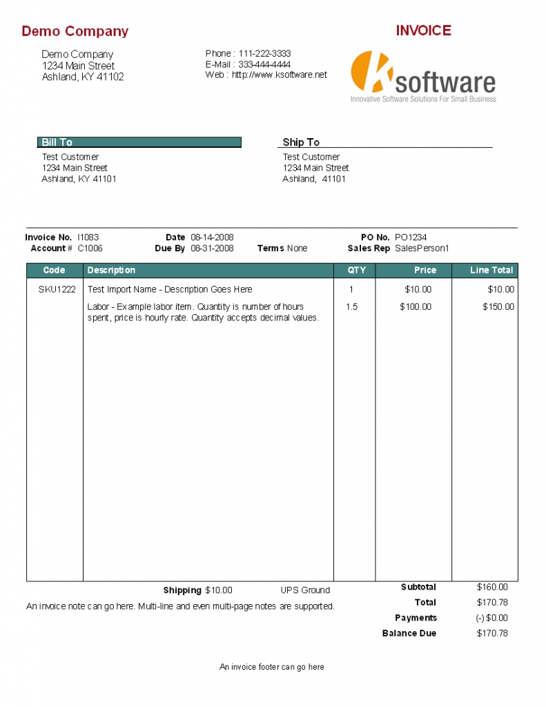 Custom Invoice Templates Gse Bookbinder Co Forms Template Example ...