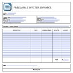 Writing Invoice Template