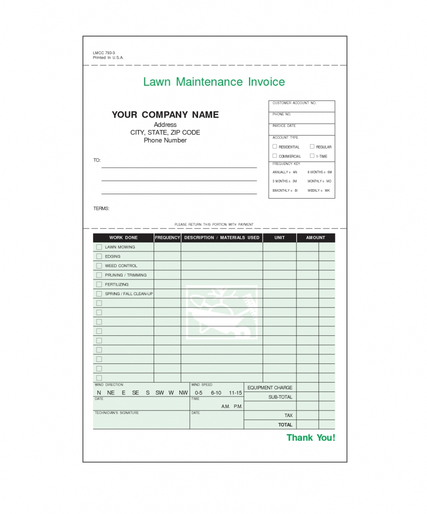 free lawn care maintenance invoice business invoices templates lawn care invoice