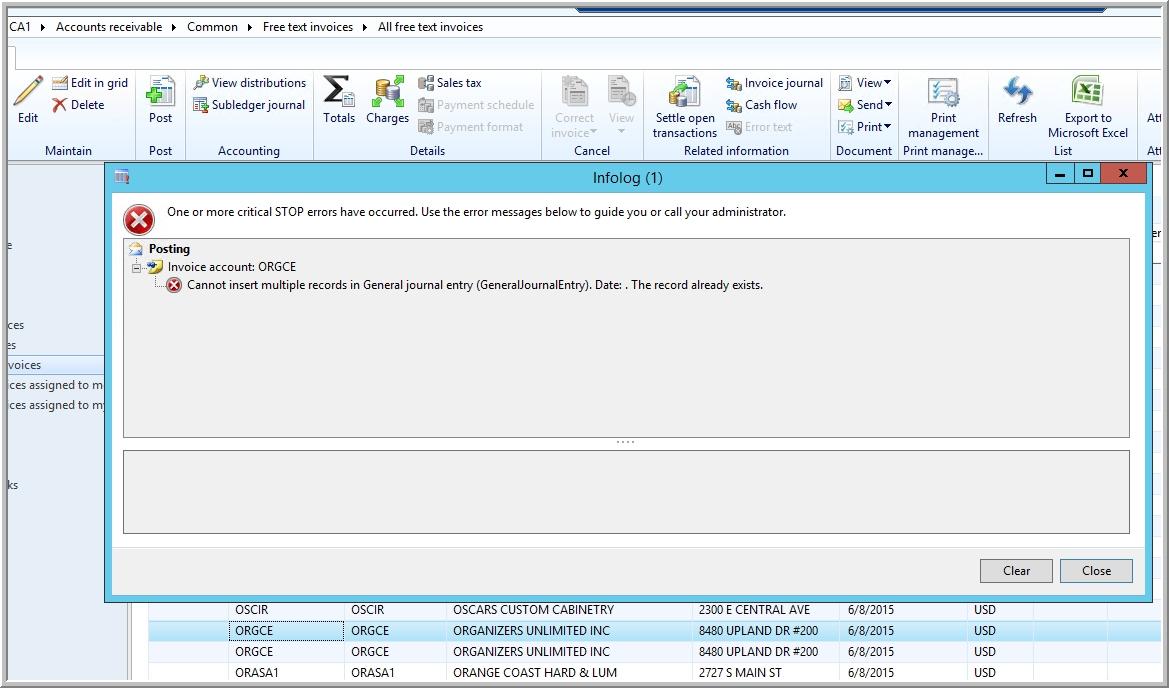 free text invoice error while posting free text invoice arbela tech 1169 X 688