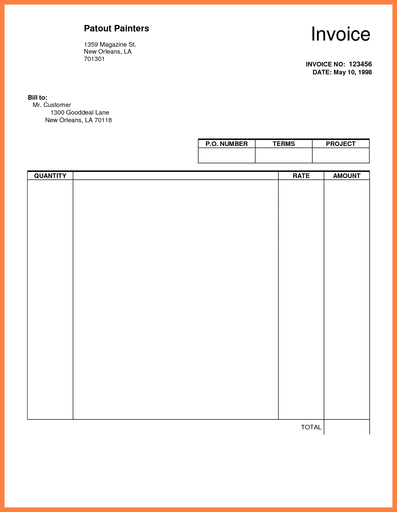 Make An Invoice In Google Docs Invoice Template Ideas
