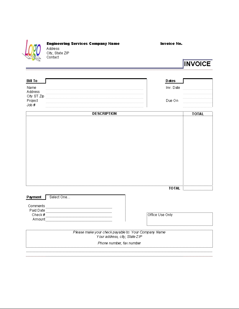 house rental invoice template in excel format free templates rental invoice template