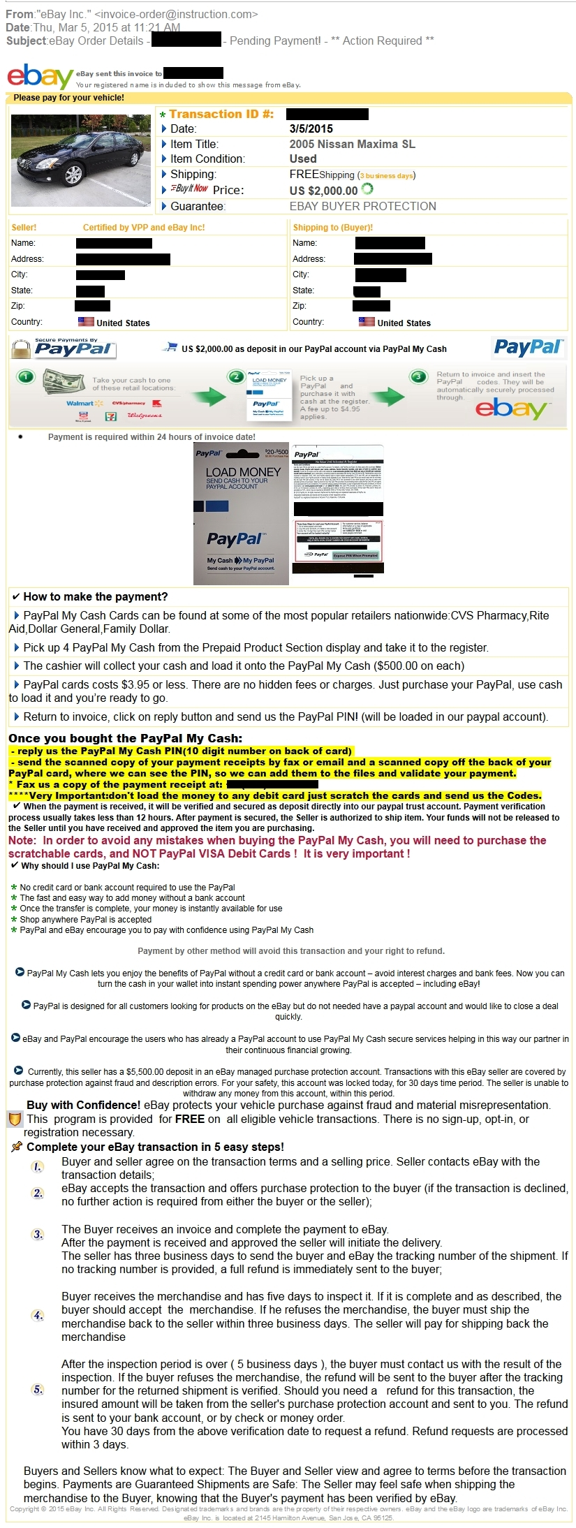 Paypal Invoice Protection Invoice Template Ideas - Paypal invoice template