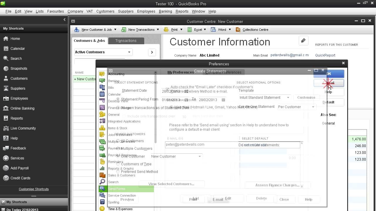 quickbooks email invoices email your customer invoices and statements in quickbooks pro uk 1280 X 720