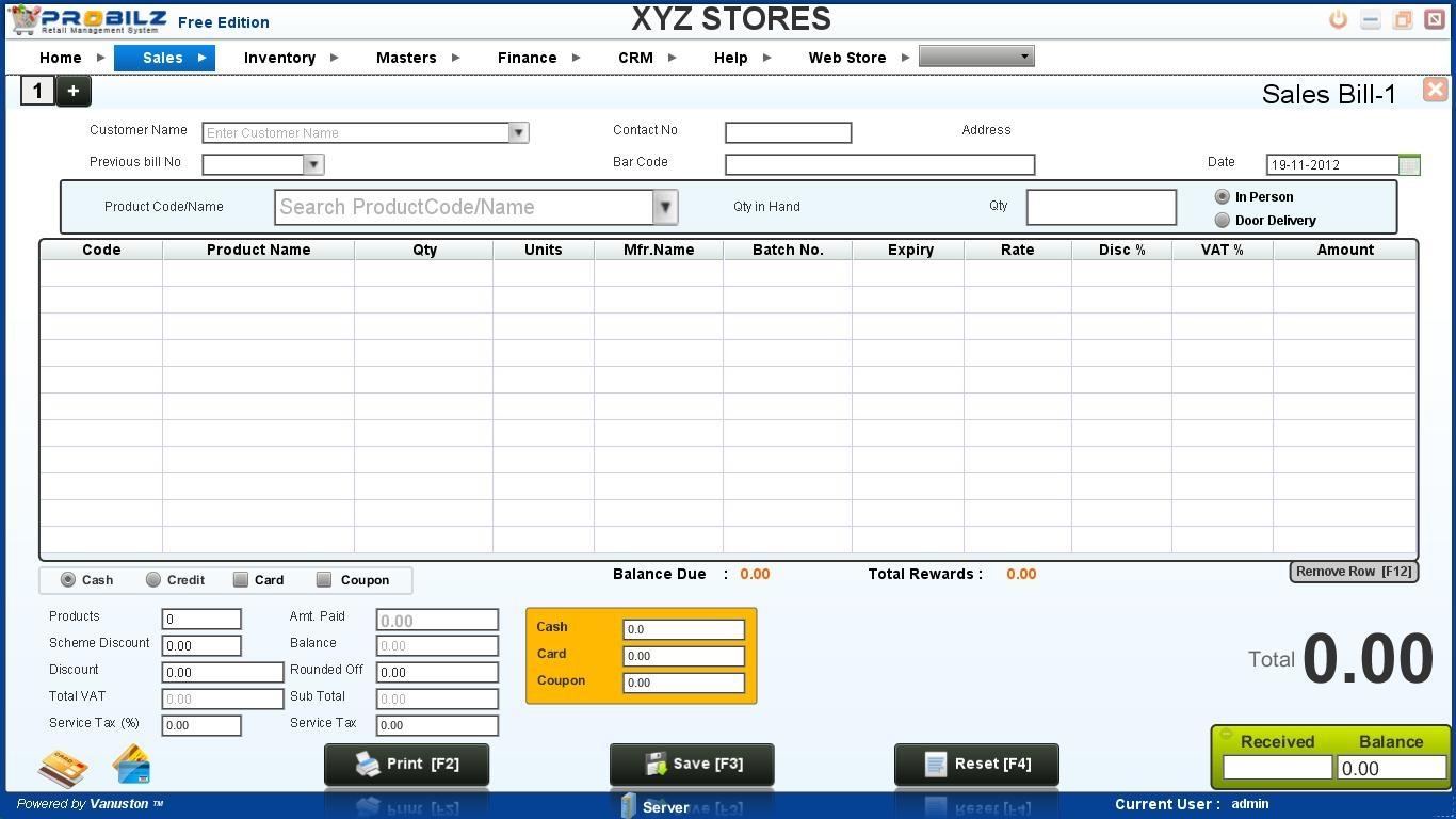 retail invoice software probilz free ed retail billing software 10 probilz pos free 1366 X 768