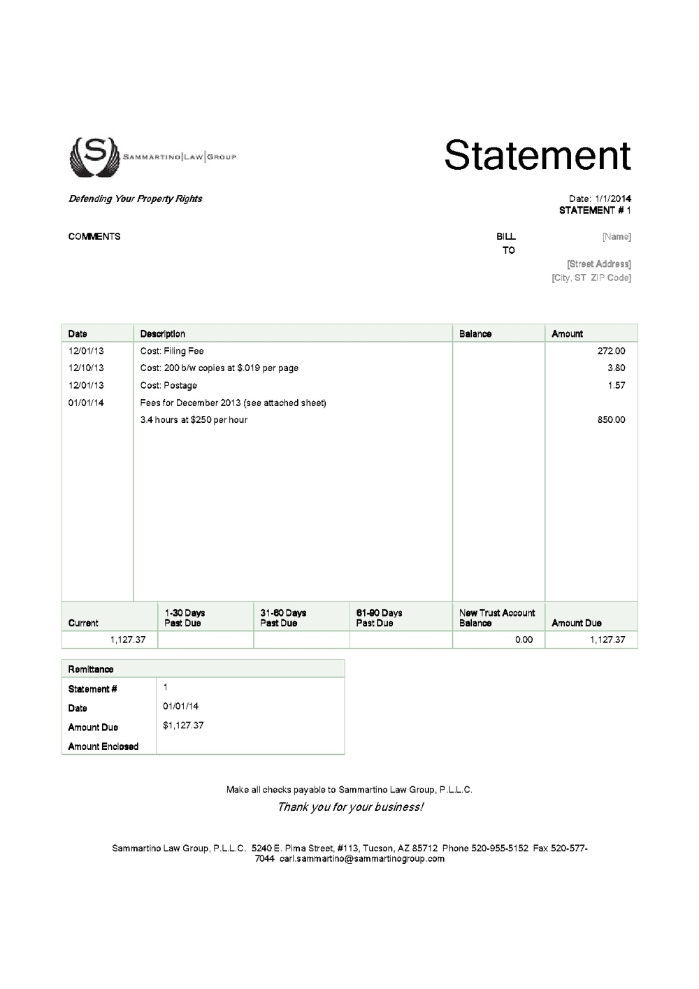 Sample Legal Invoice * Invoice Template Ideas