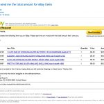 Ebay Sending Invoice