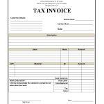 Basic Tax Invoice Template
