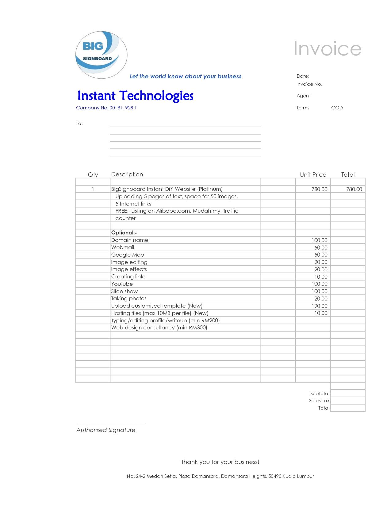 web design invoice template best business template invoice web design