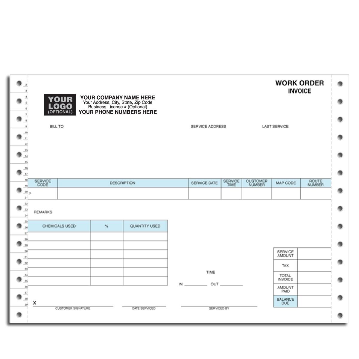 work order invoice invoic work order invoice sample work order invoice order form