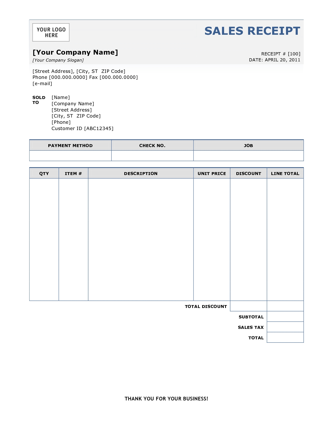 6 best images of bill receipt template medical bill invoice invoice and receipt template