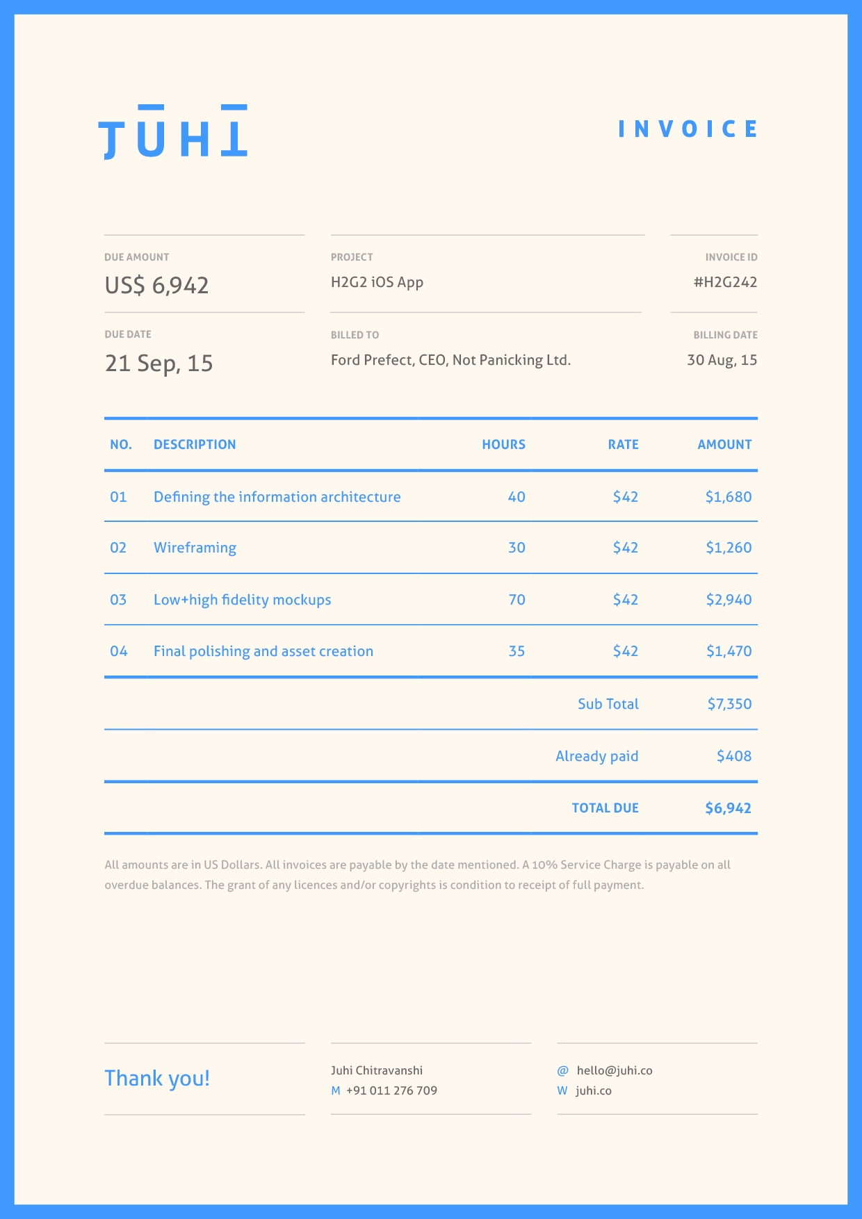 don39t hold back on your invoice 25 inspiring designs design an invoice