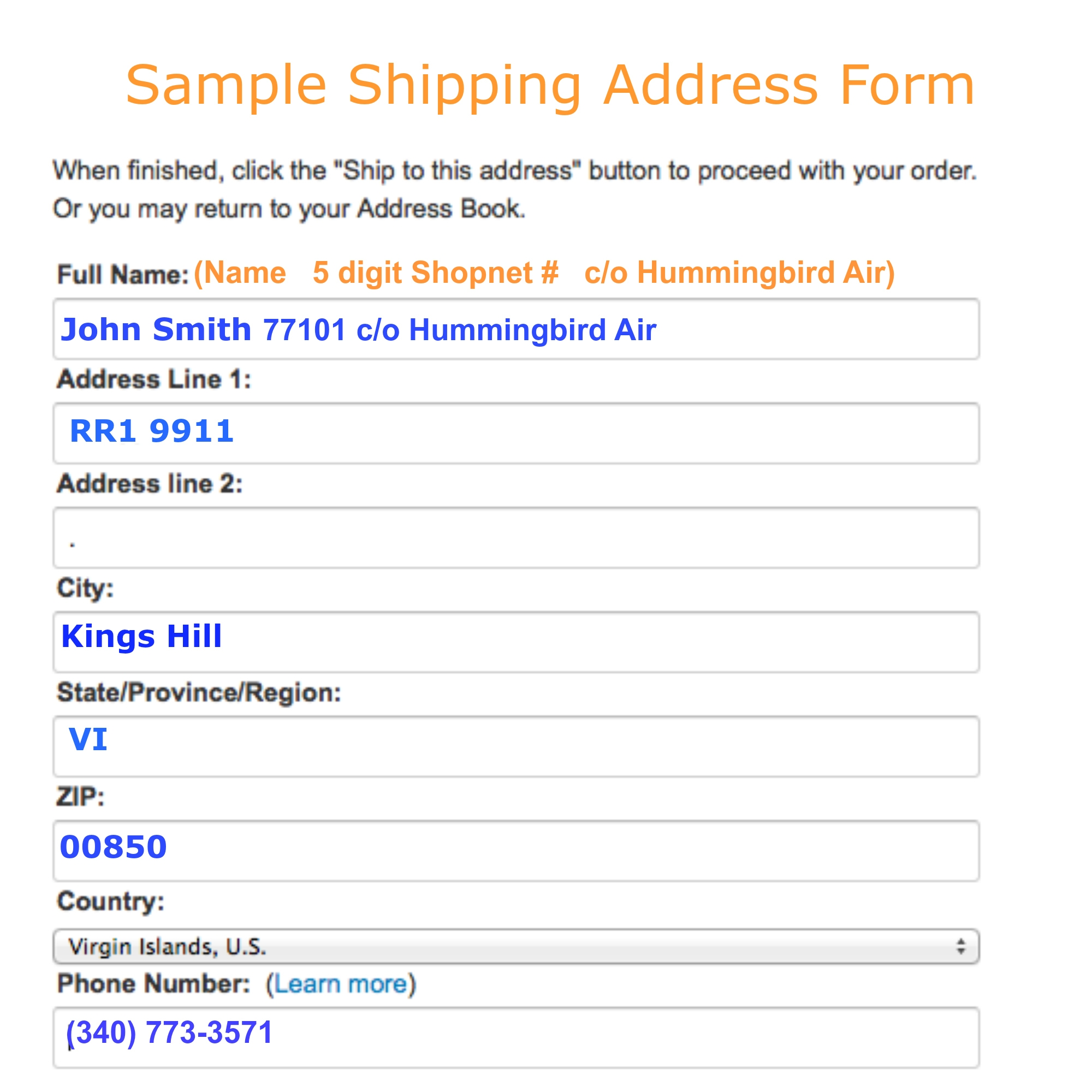 hummingbird air amazon products now delivered to dominica invoice address amazon