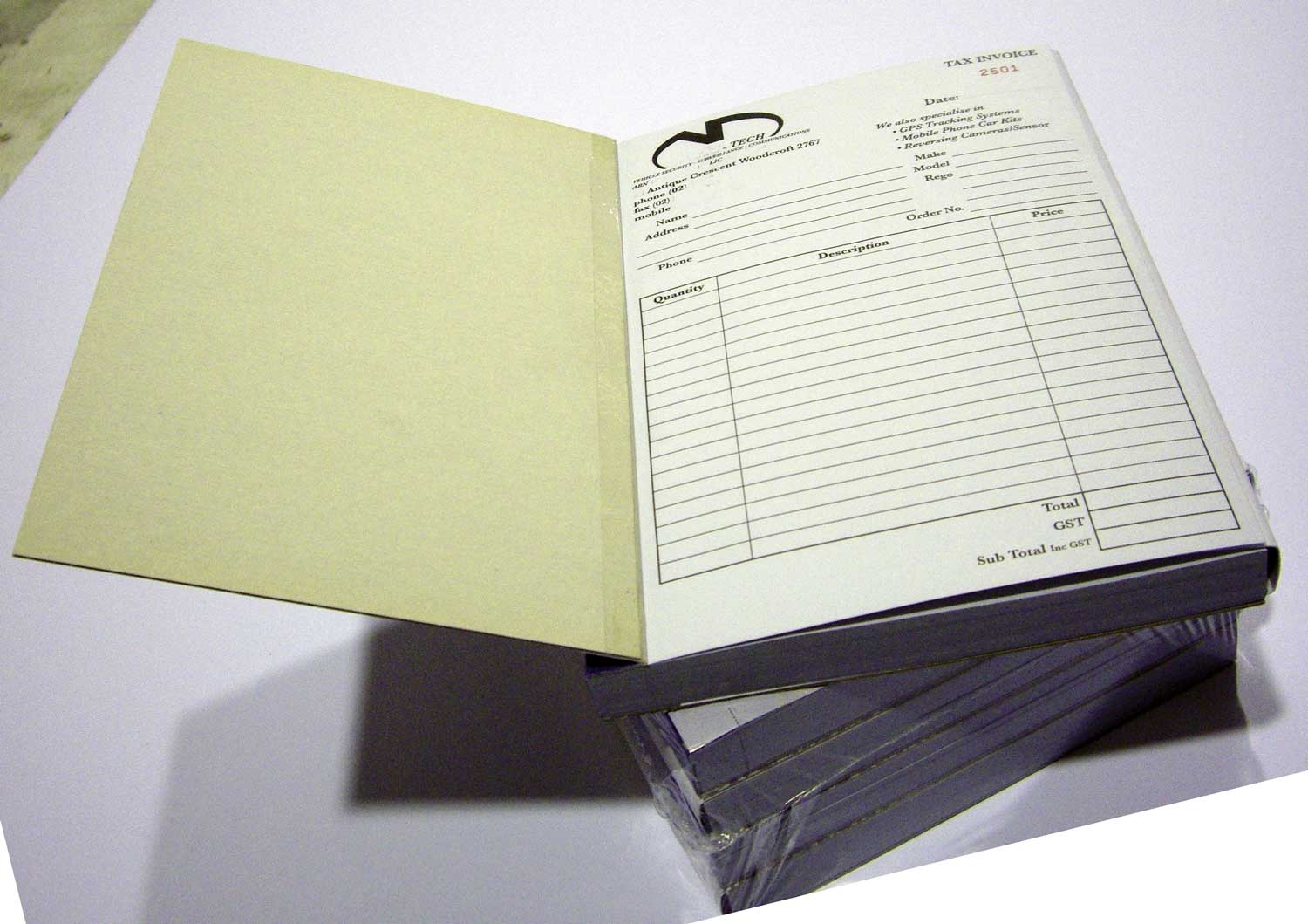 Customised Invoice Book