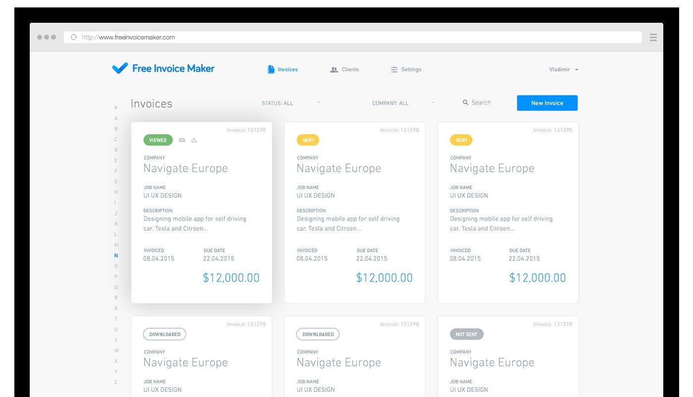 Invoice Creator App