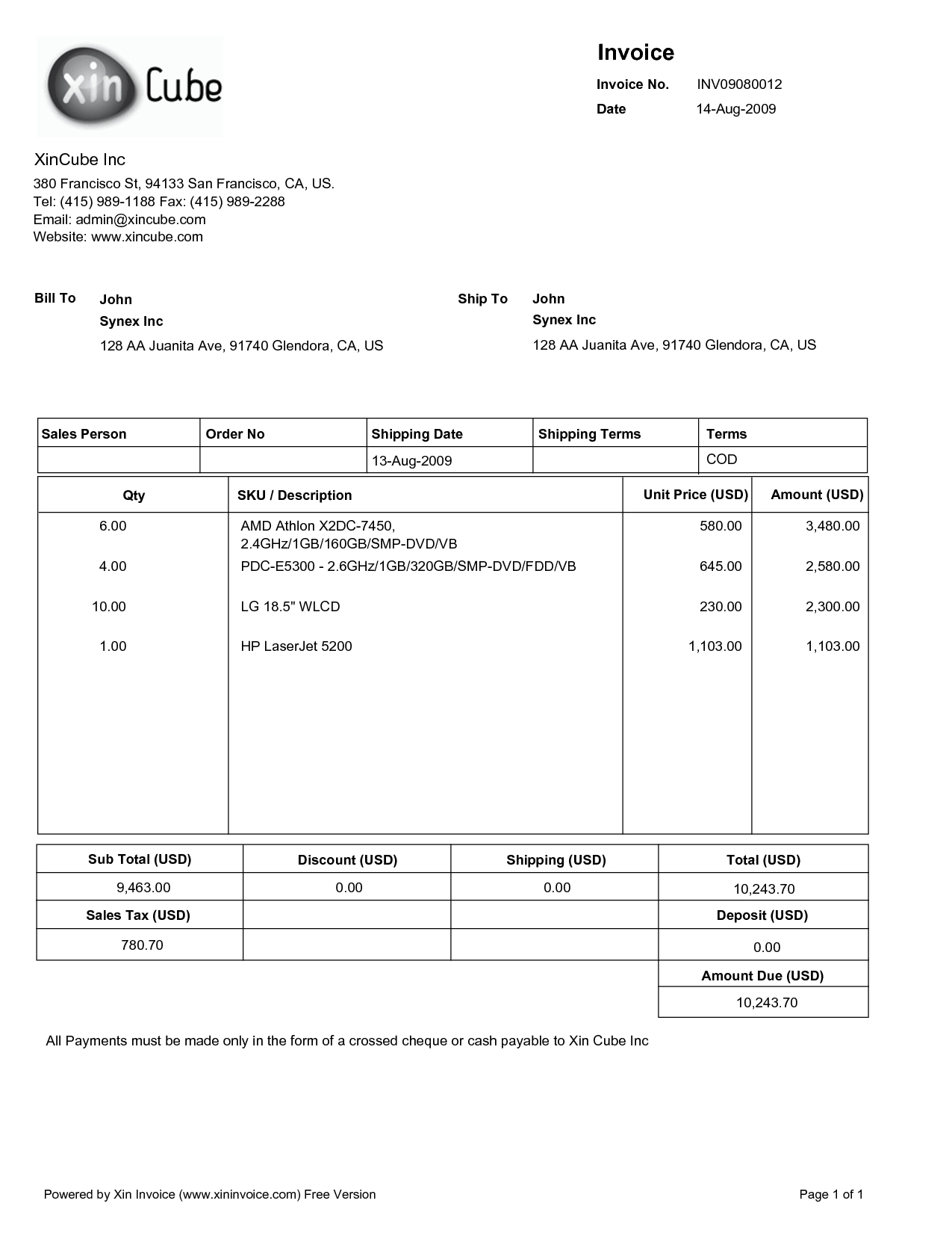 sample invoice pdf * invoice template ideas, Invoice templates
