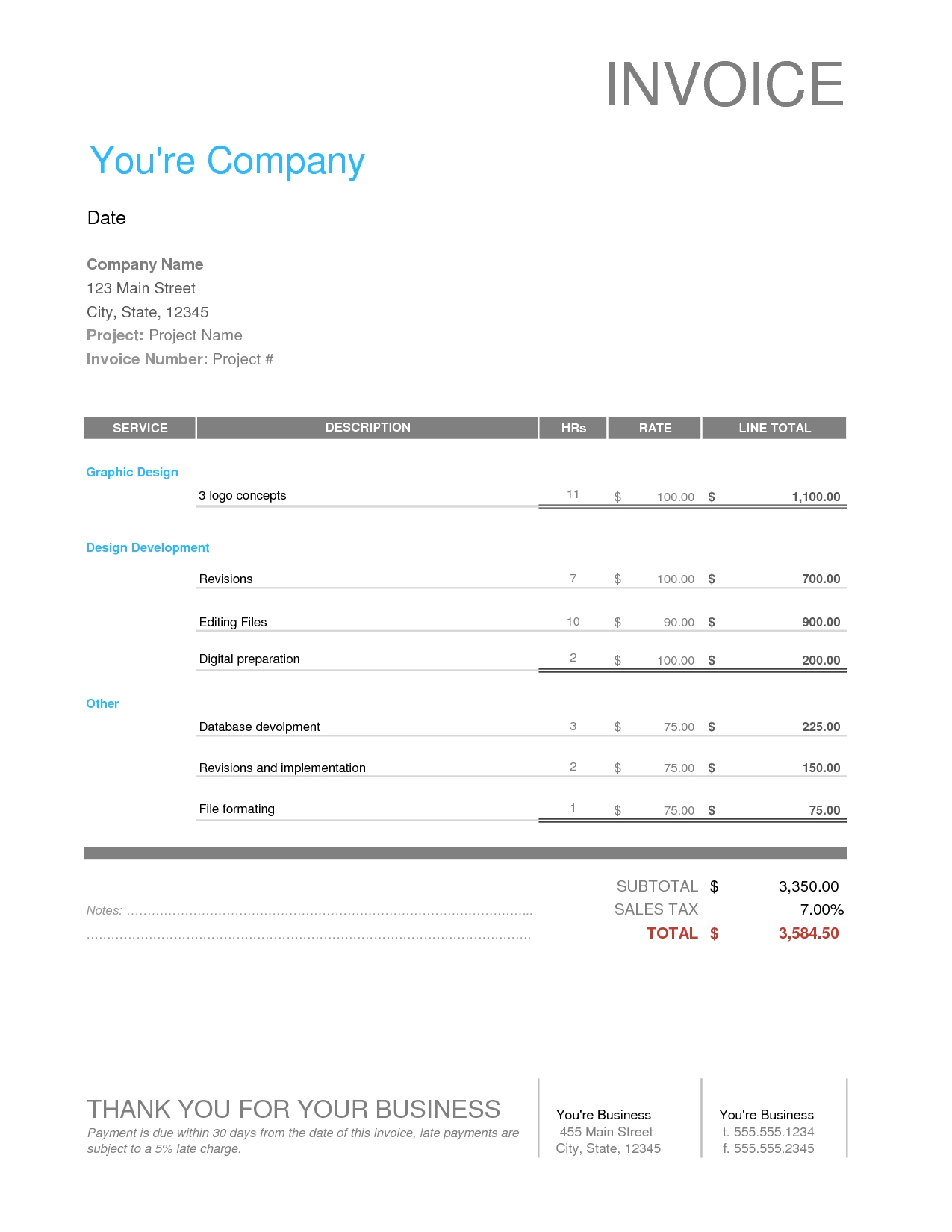 lawn service invoice business invoice templates free free download invoice quickbooks 1275 X 1650