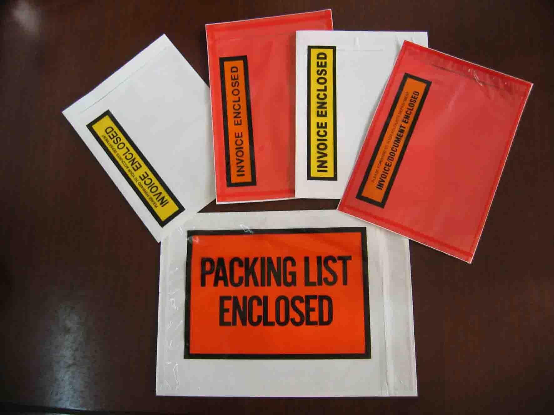 packing slip envelopeinvoice encloseddocuments enclosed from invoice packing slip
