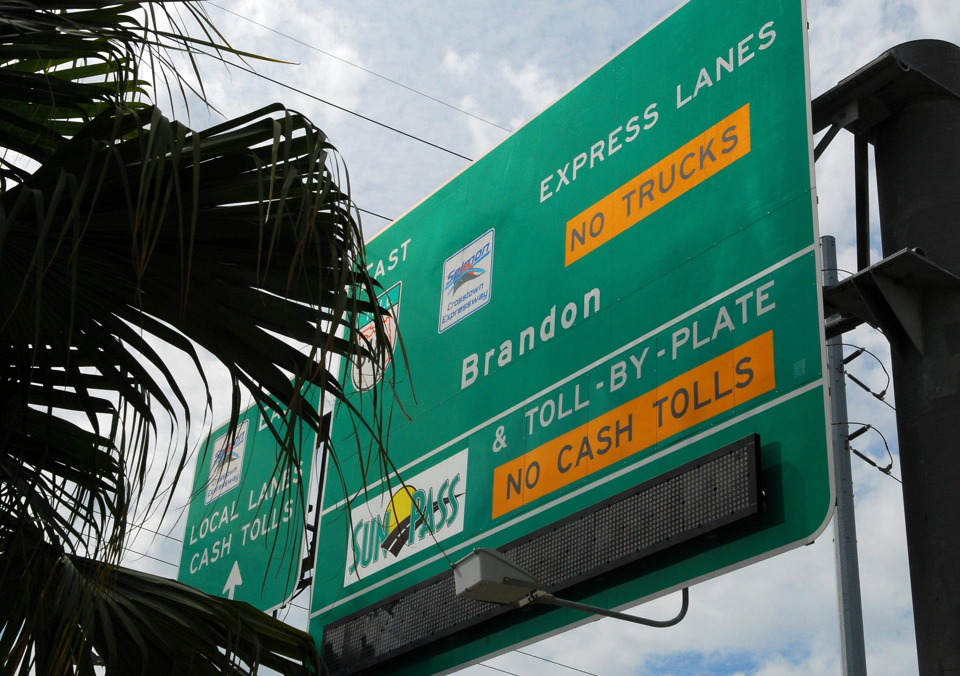 problems reported with automatic tag readers on florida toll roads pay toll by plate invoice