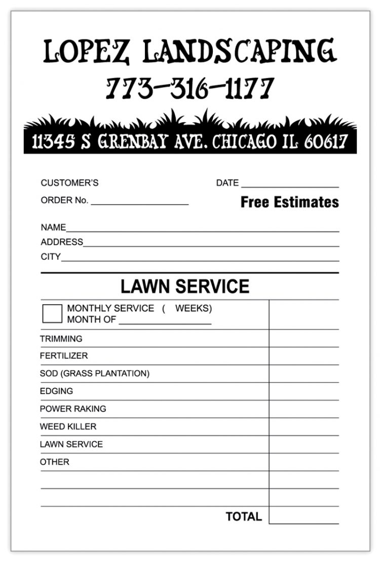 sample quickbooks invoice custom landscaping invoice sample lawn service invoice sample 750 X 1109