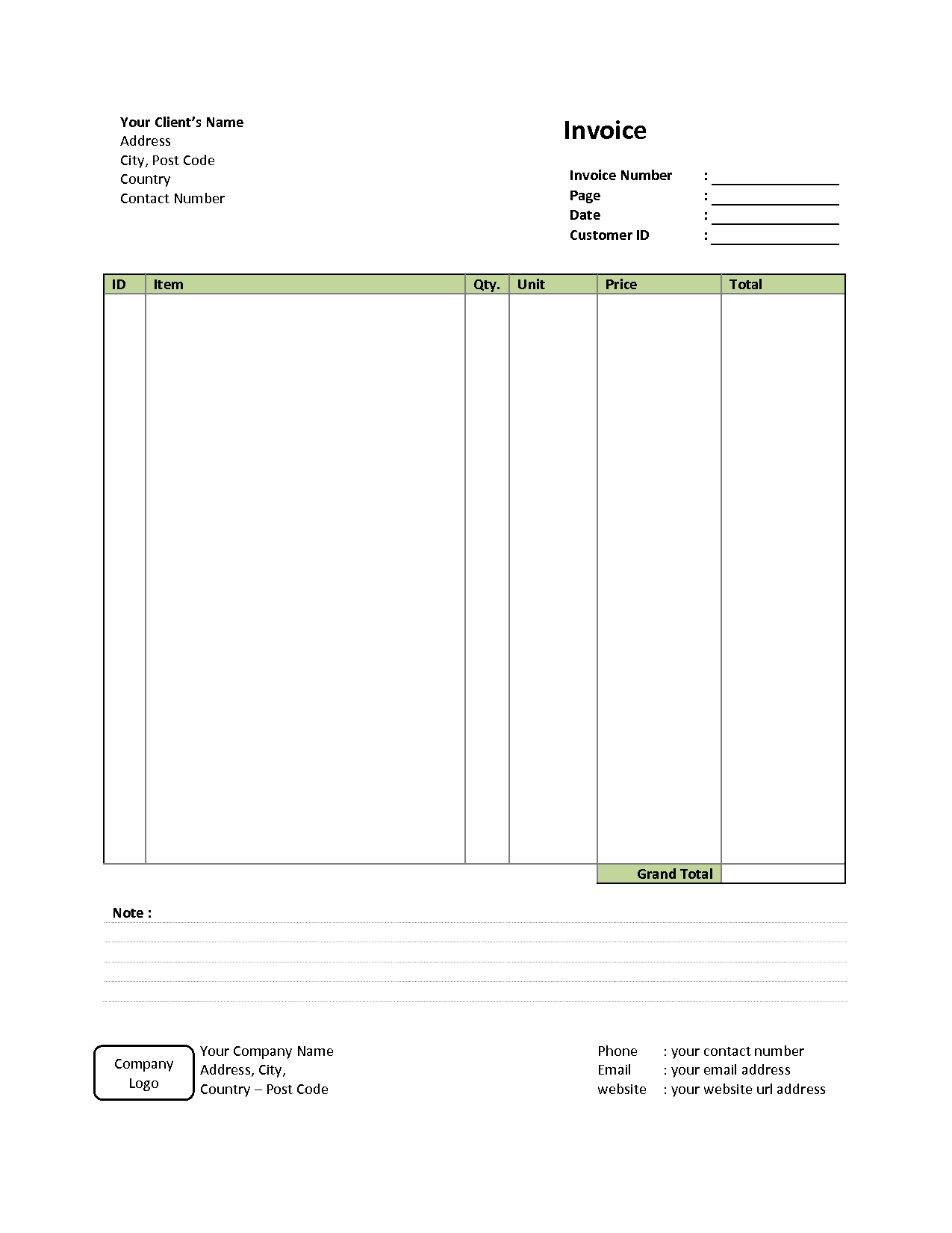 retail invoice template 12 free word excel pdf format download