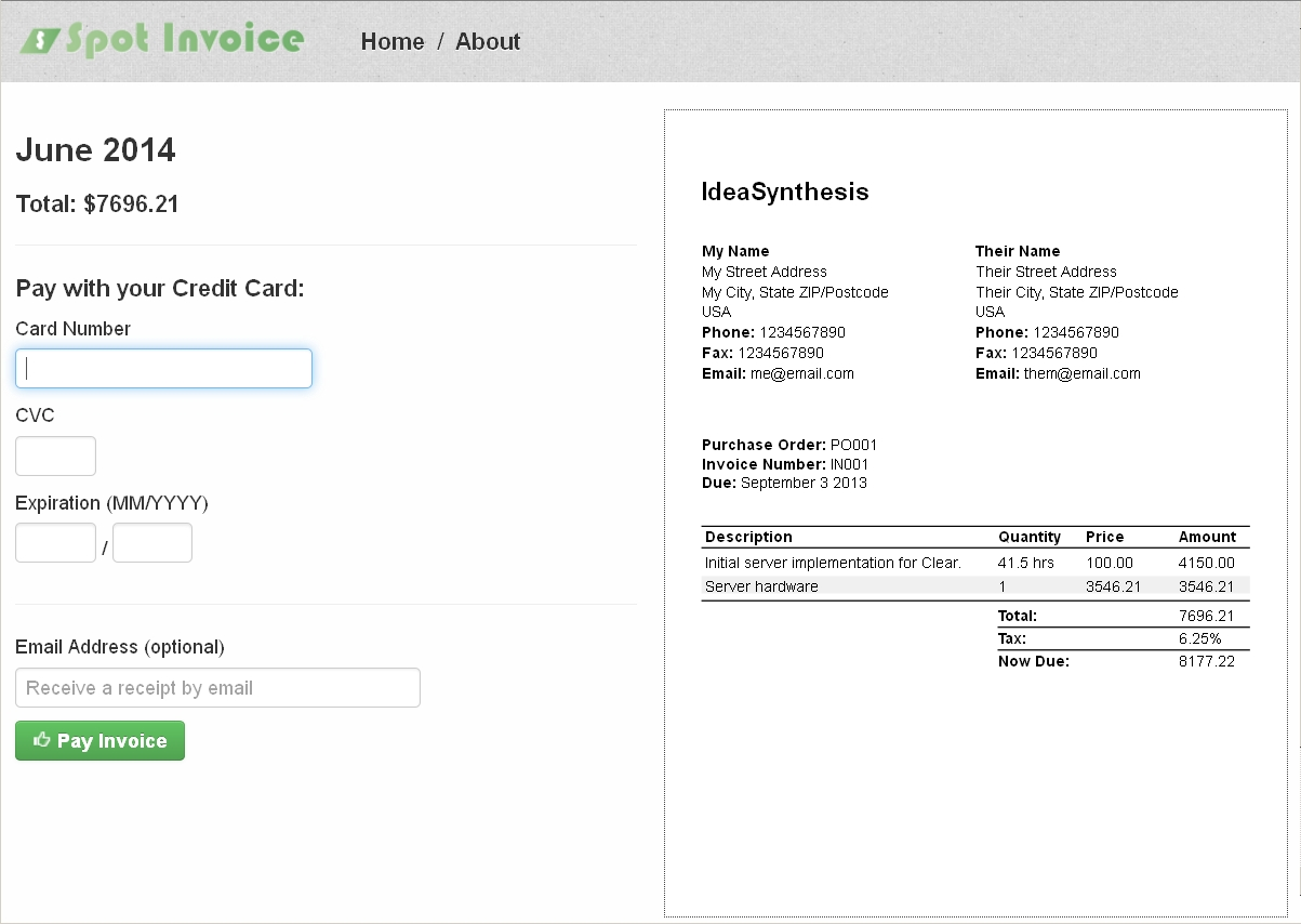 Elegant ... Spot Invoice Visual Invoice Design Make Your Own Invoices ... Throughout Design Your Own Invoice