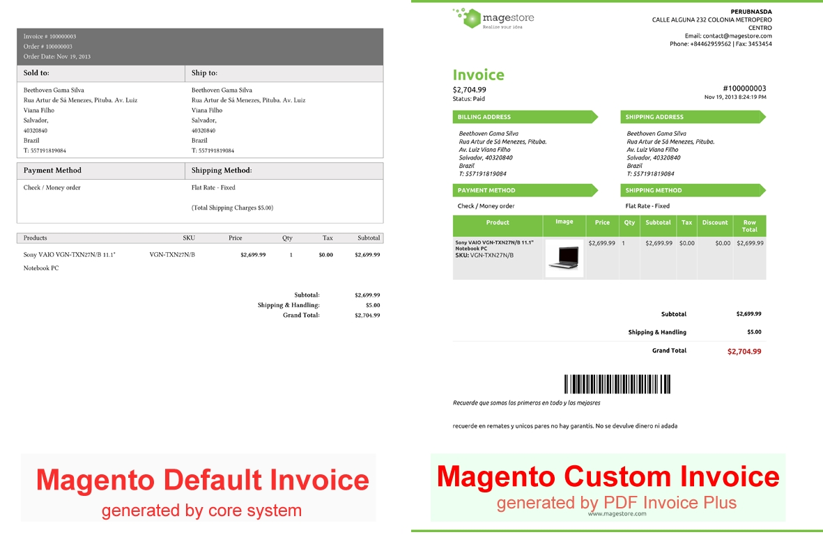 unlimited custom invoices with magento pdf invoice plus released magento pdf invoice