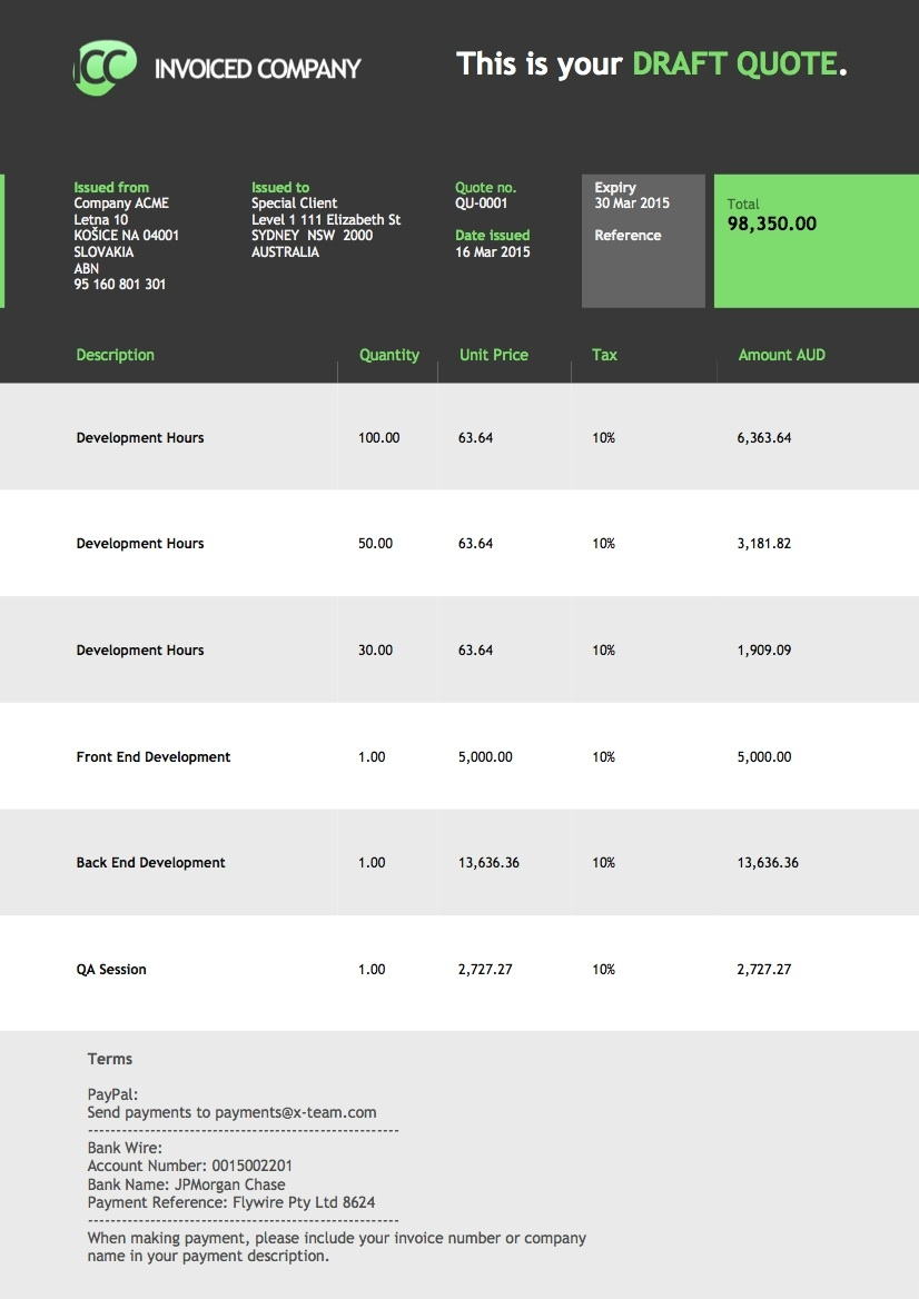 xero invoice theme charging d39affair invoicethemes your xero custom invoice