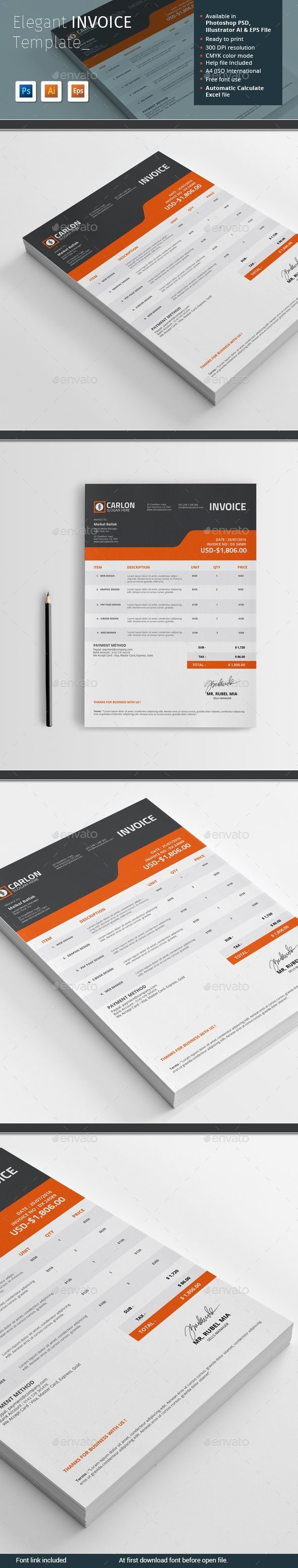 1000 ideas about invoice template on pinterest project proposal invoice template ai