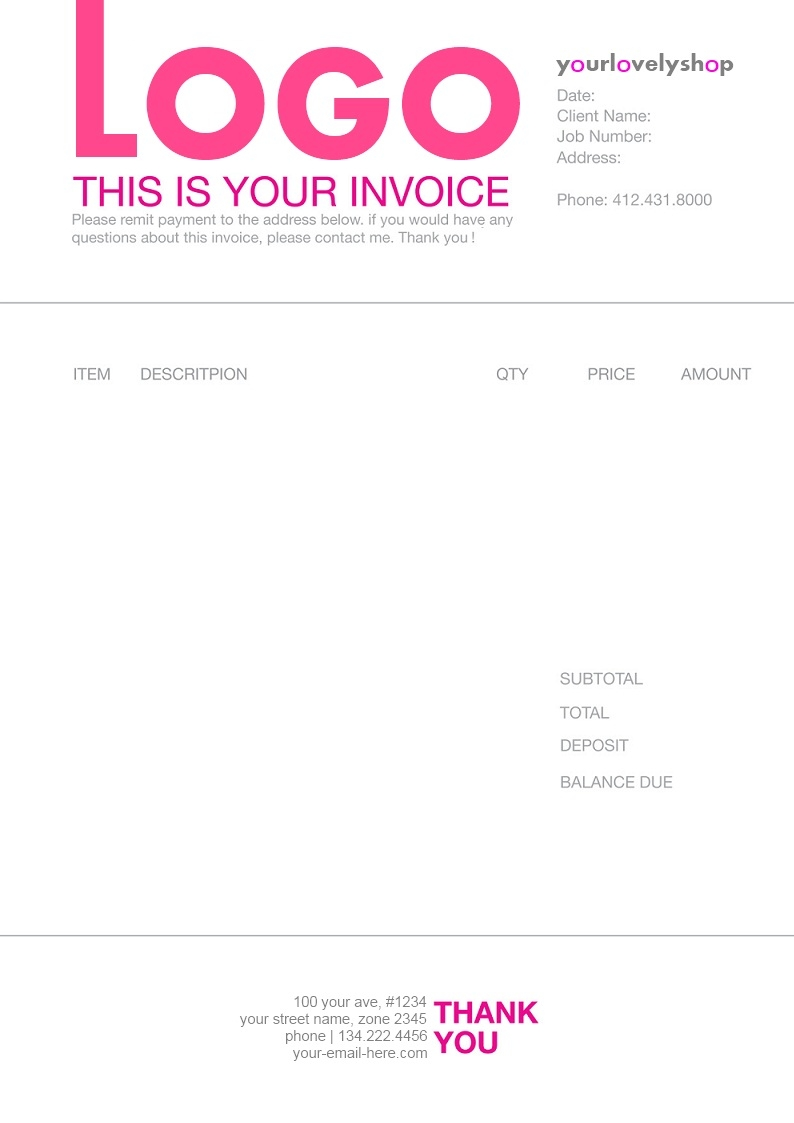 1000 images about designinvoices on pinterest freelance freelance artist invoice