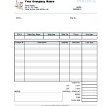 Business Invoice Format