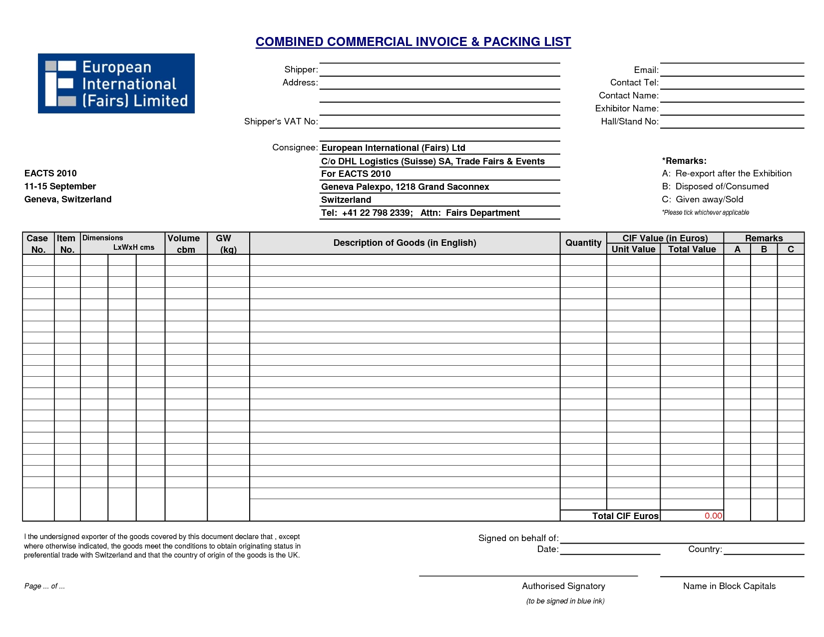 commercial invoice packing list commercial invoice packing list template ontslagbrief 1650 X 1275
