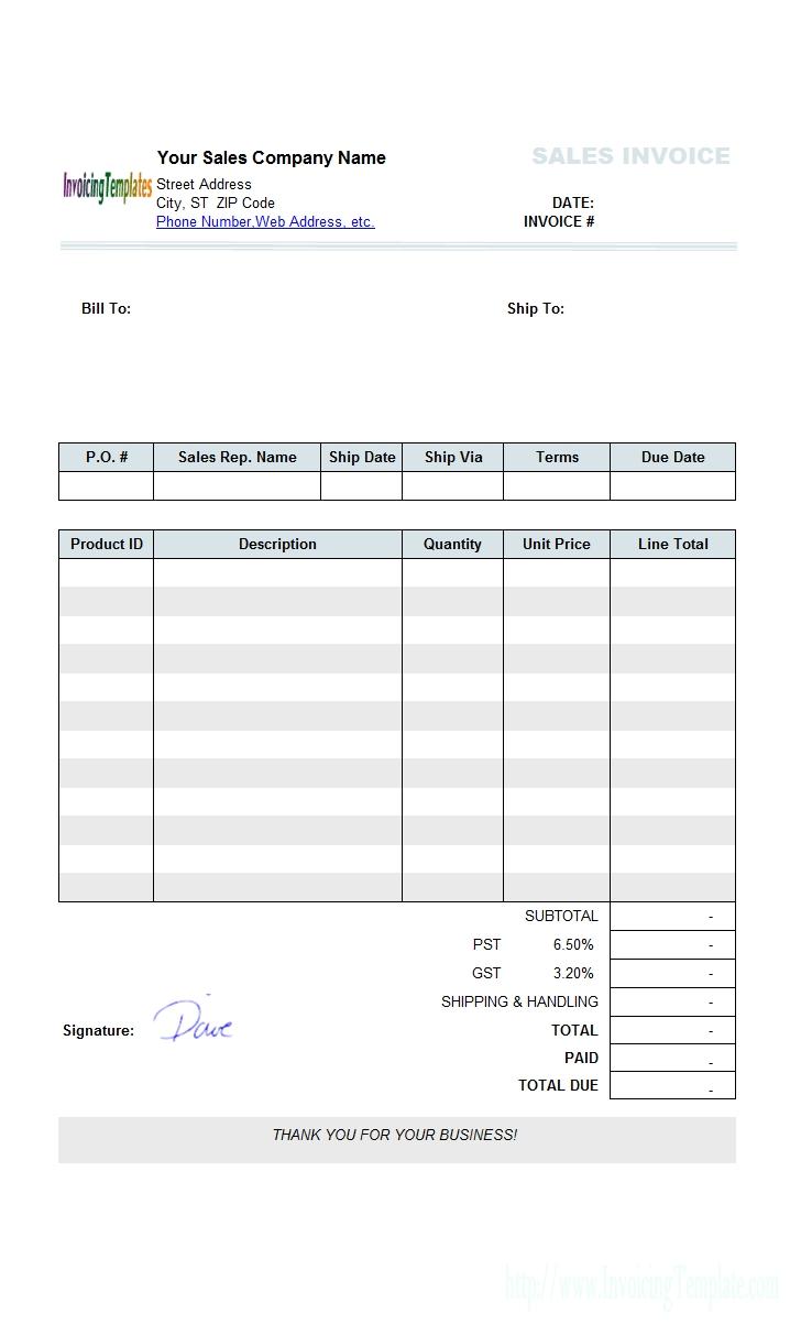 Sage Invoice Templates