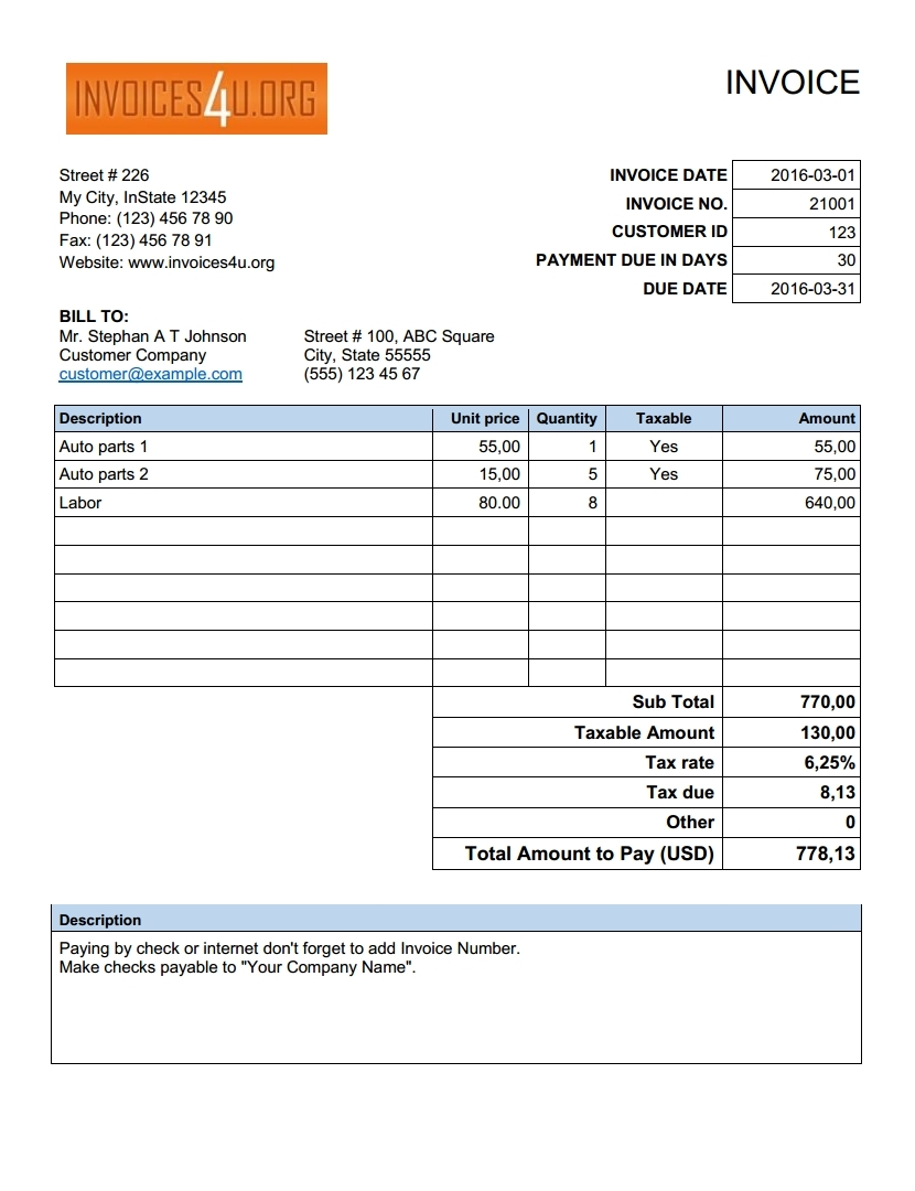 download free invoice template download free invoice template [image_size]