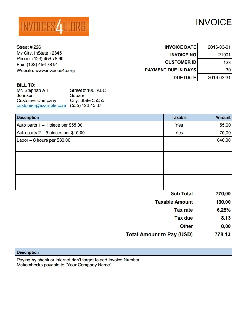 excel invoice template download free excel invoice template download