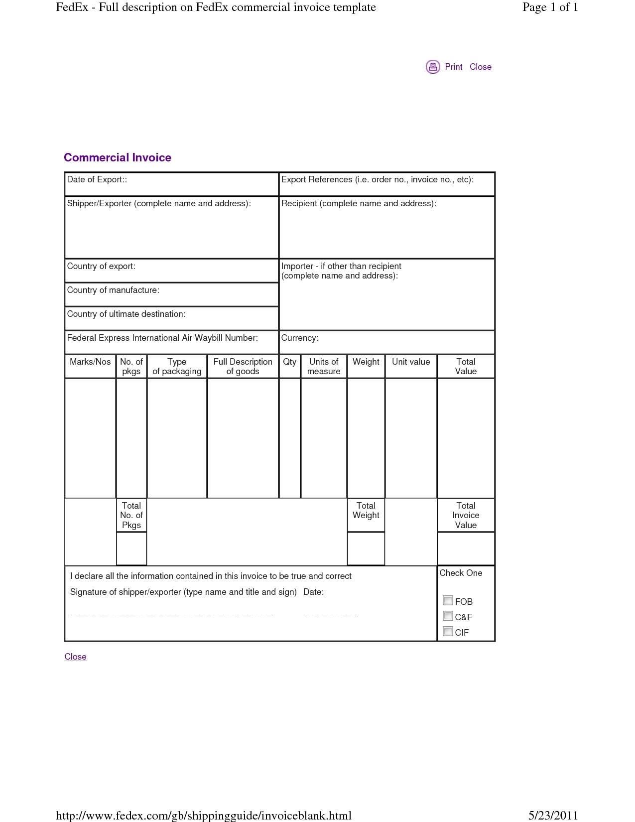 fedex proforma invoice invoice template ideas pro forma invoice fedex