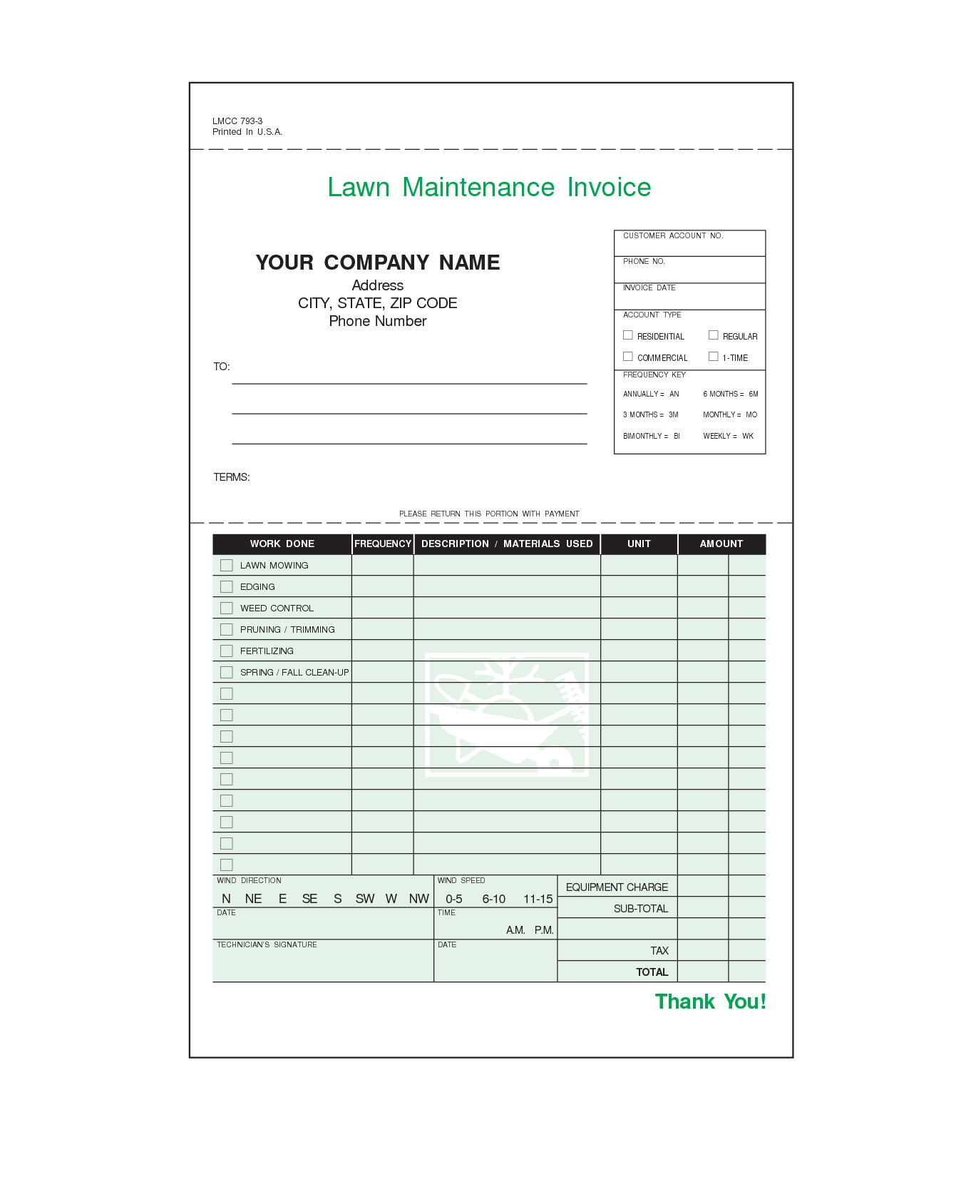 Lawn Care Invoice Template Lawn Care Invoice Template For Excel - Lawn service invoice template free