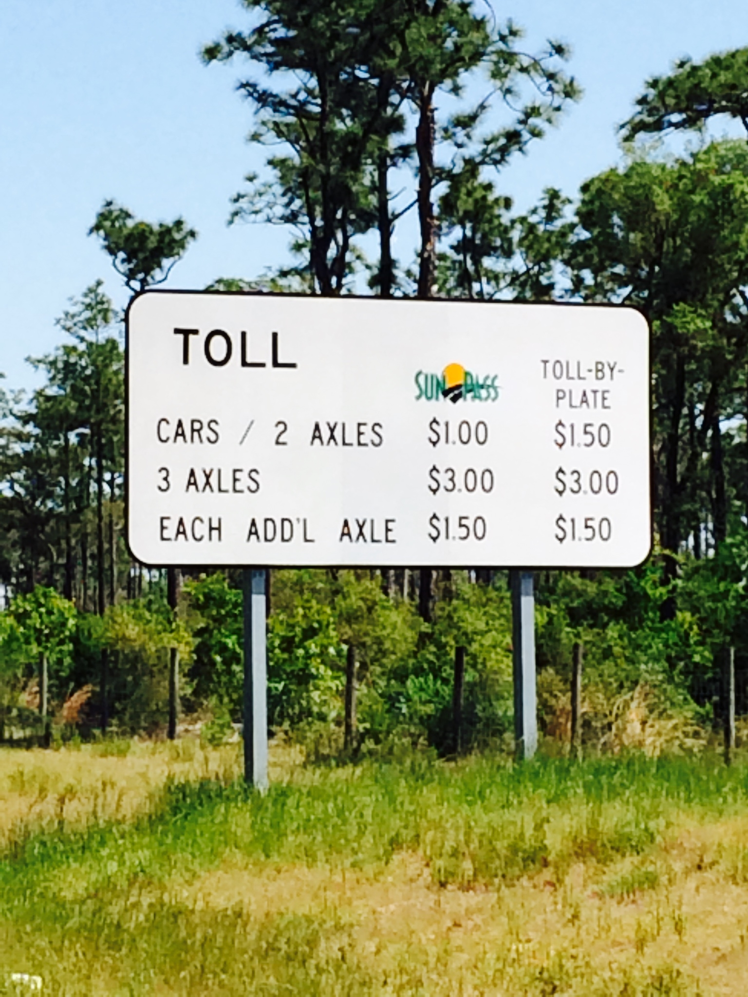 Toll By Plate Invoice Florida