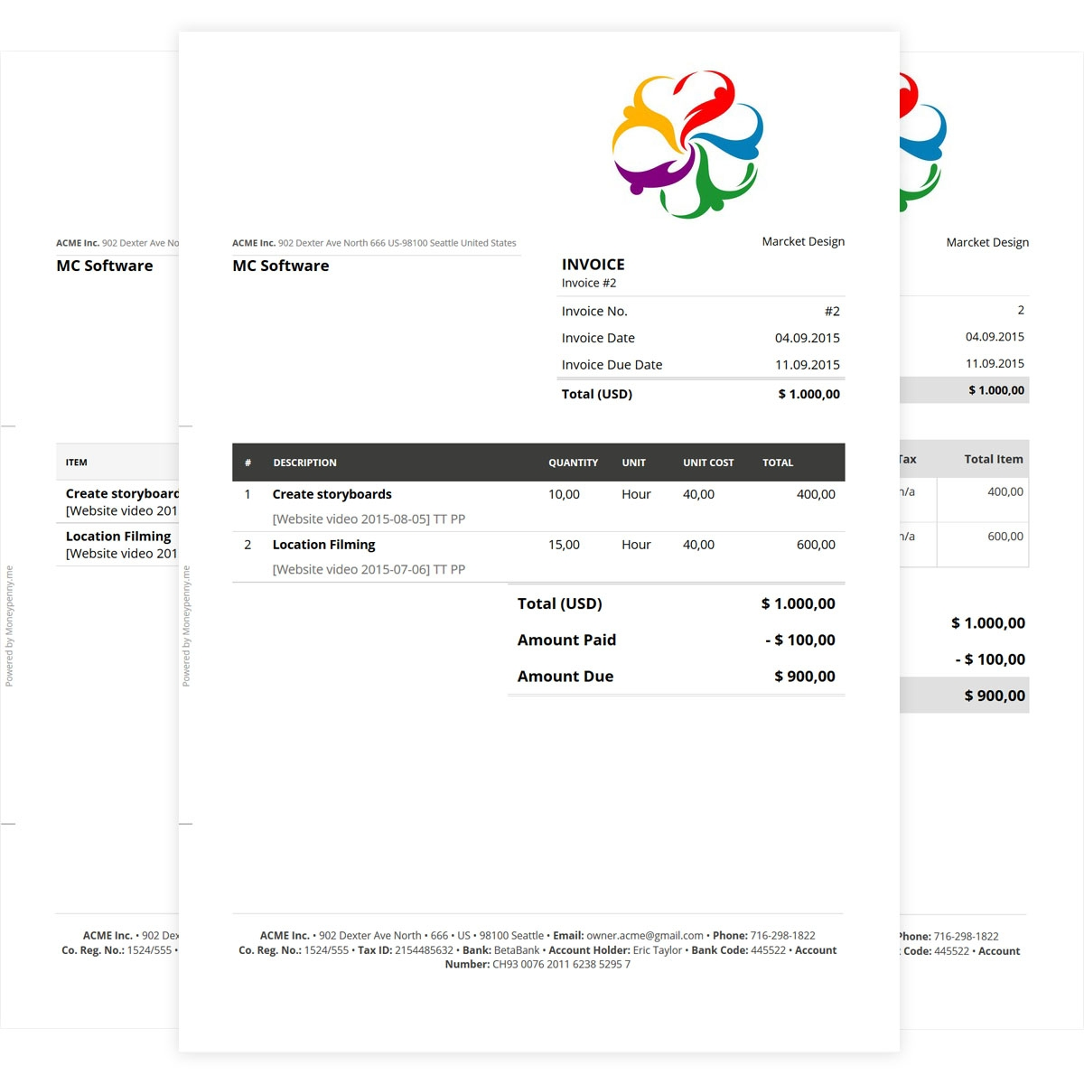 online invoice template to create professional invoices job invoice forms