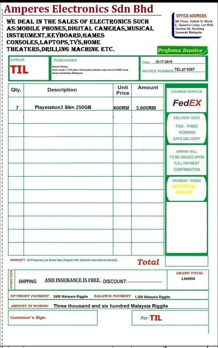 Define Proforma Invoice