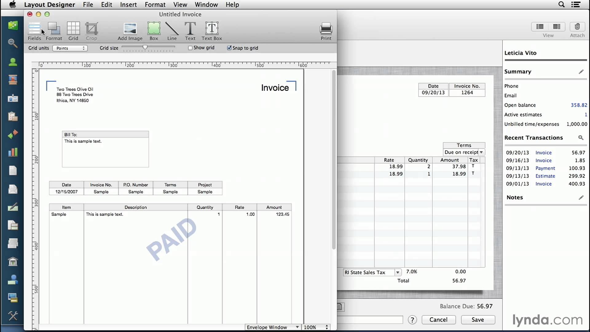 Quickbook Invoice Templates