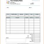 Sample Company Invoice