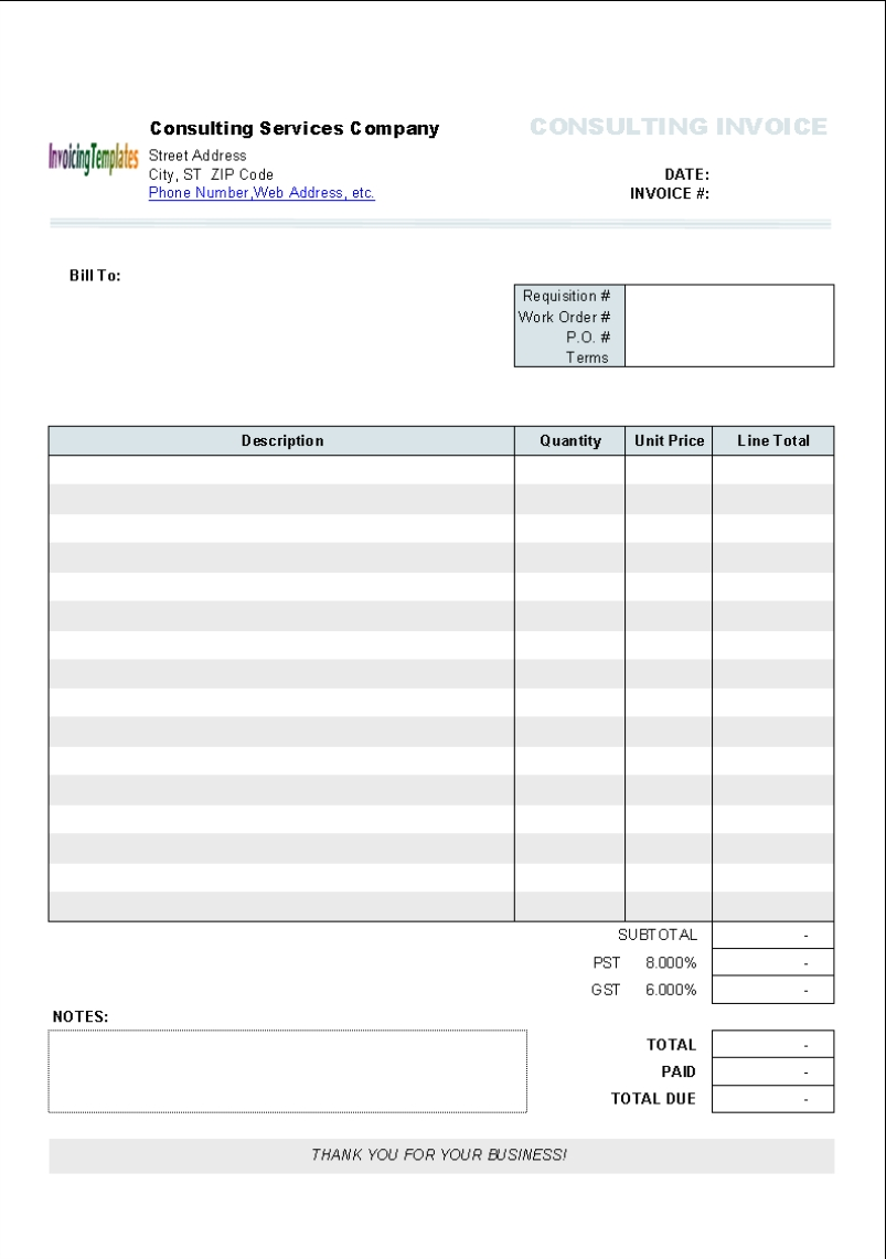 Doc572739 Invoice Word Template Invoice Template for Word – Word Template Invoice