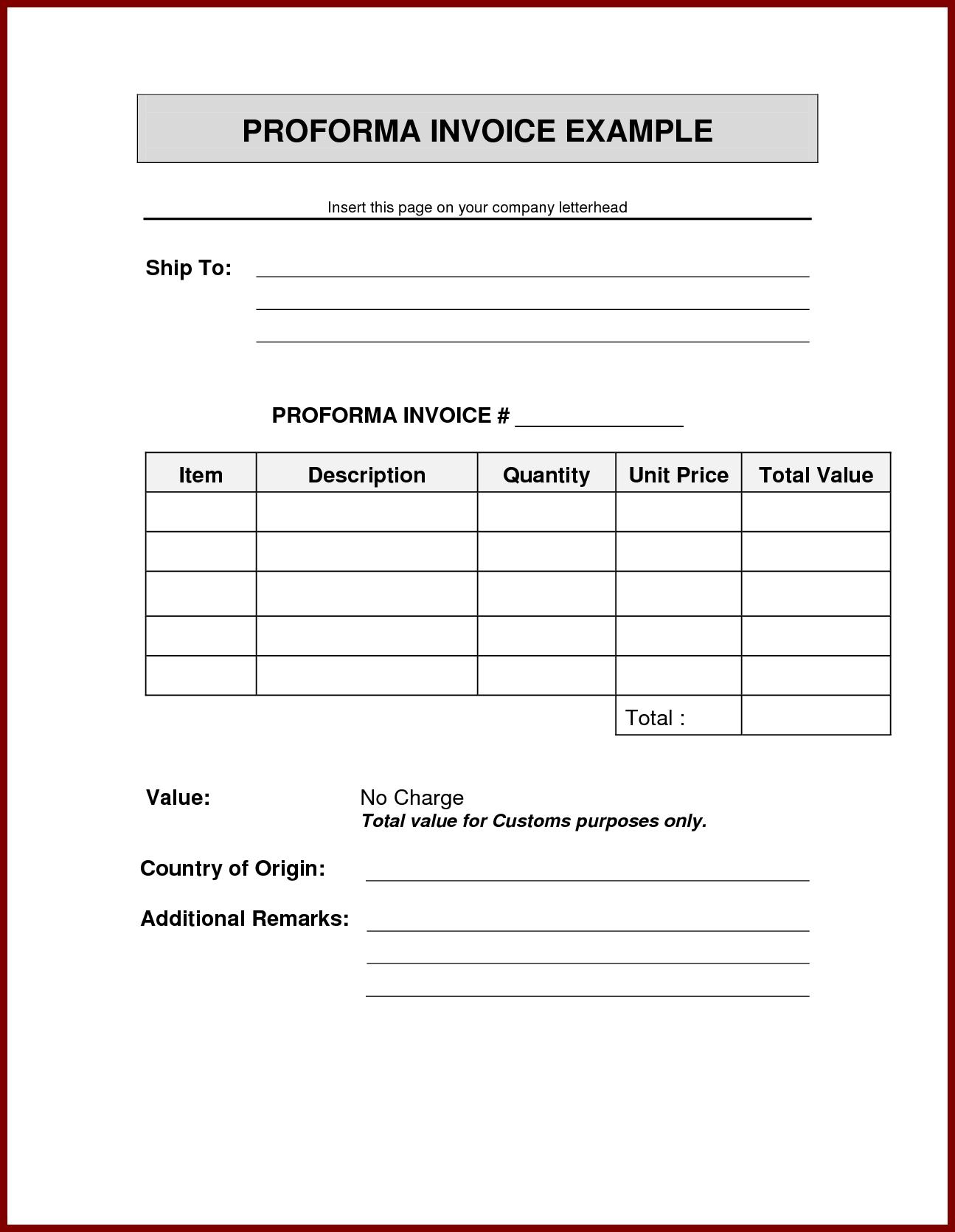 format of proforma invoice invoice template ideas 8 sample of proforma invoice template sendletters format of proforma invoice