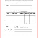 Specimen Of Proforma Invoice