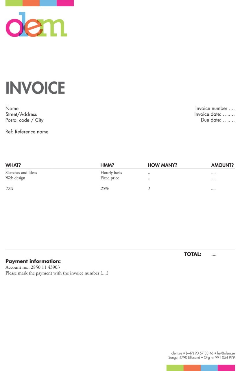 Cool Invoice Templates